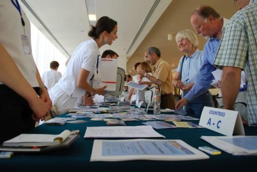 Conference Check in set up Dubrovnik